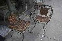 Hand Wrought Iron Mid-Century Modern Dining Chairs For ...
