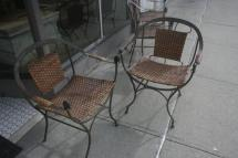 Hand Wrought Iron Mid-century Modern Dining Chairs