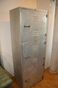 Beautiful Mid-Century Aluminum Tall Cabinet at 1stdibs