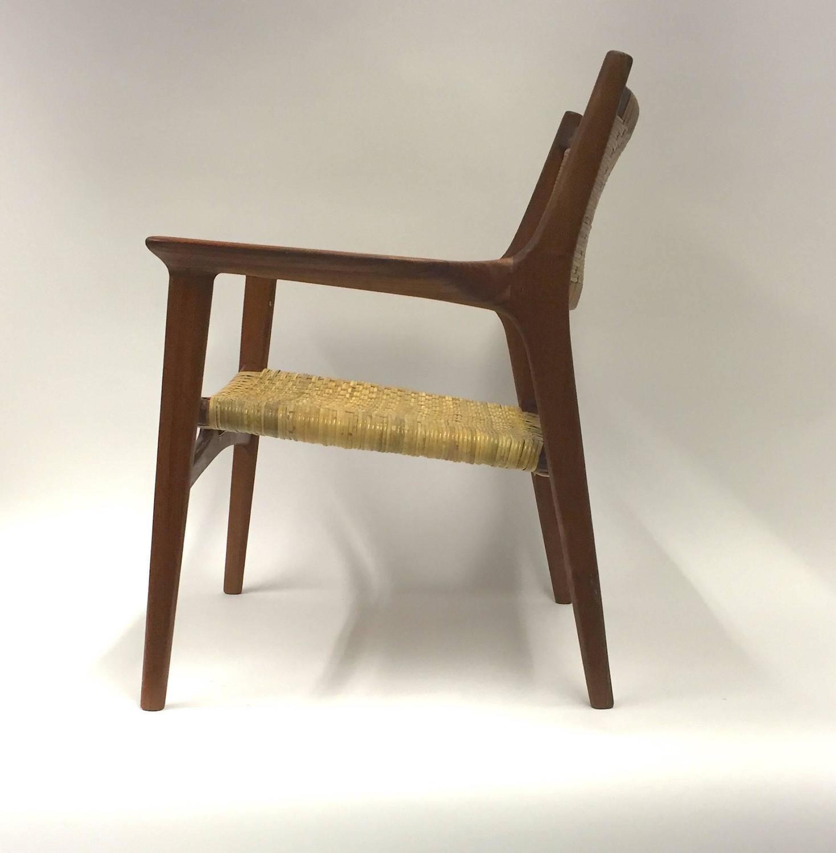 cane easy chair white kitchen chairs target hans j wegner for johannes hansen jh 516 teak