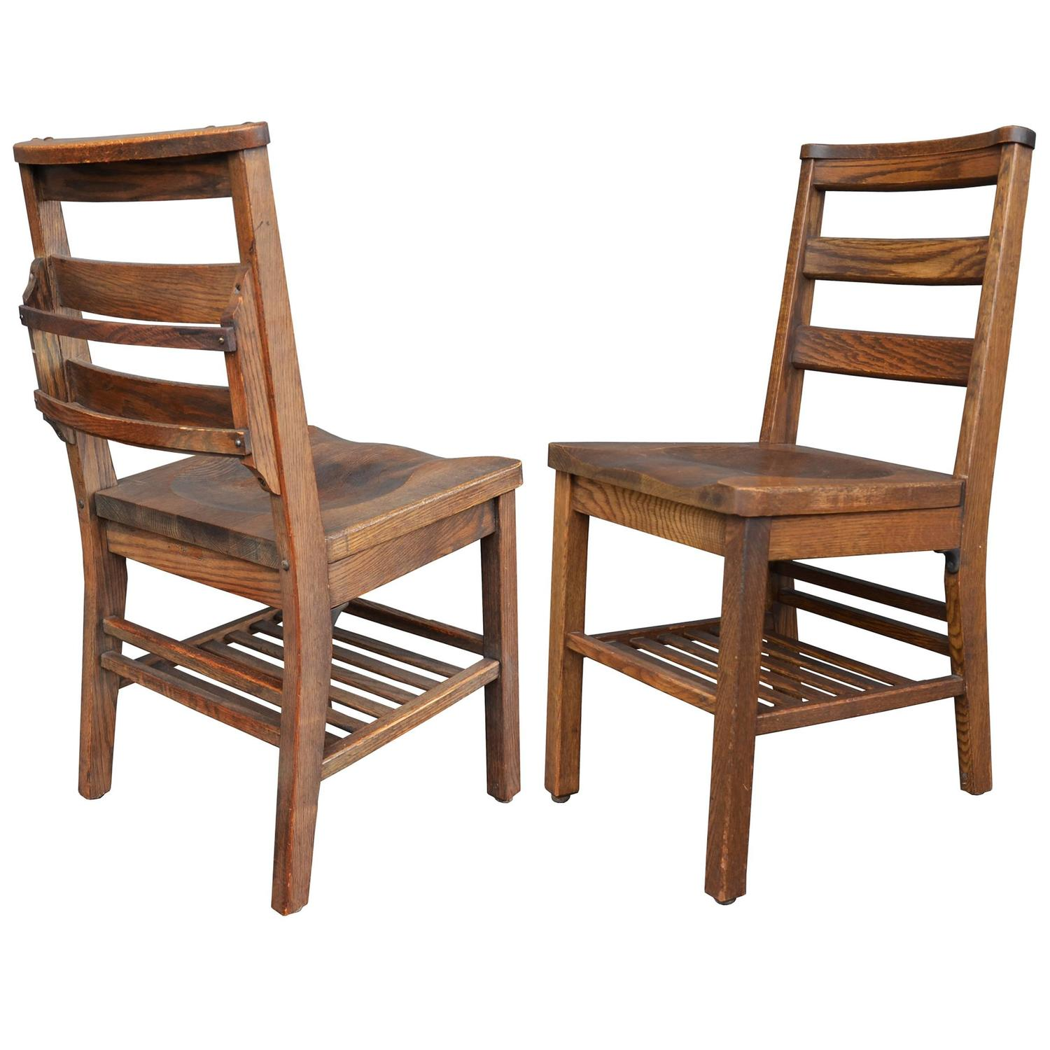 wooden library chair hickory accessories stained oak with book holder by milton