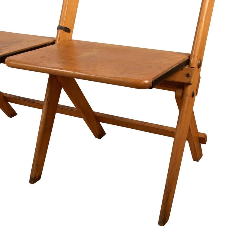 Maple Four Seat Folding Chair Circa 1935 For Sale At 1stdibs