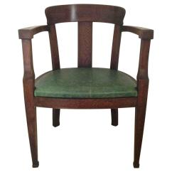 Oak Desk Chair High Cushion For Wooden Chairs Early Solid Art Deco Sale At 1stdibs