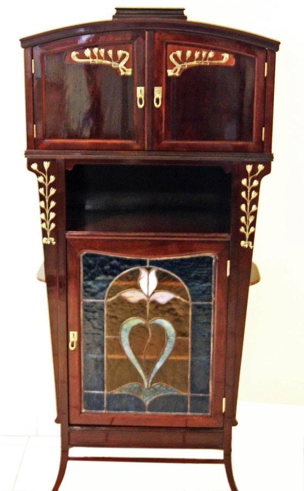 Arts And Crafts Glass Cabinet Showcase Art Nouveau Vienna