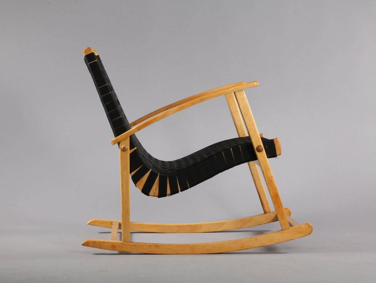 comfortable rocking chair youth dining attributed to jens risom 1950