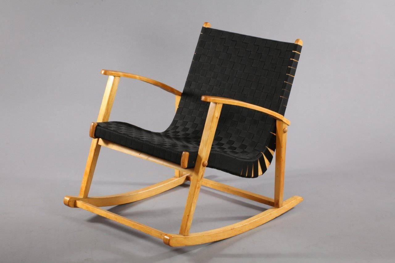 comfortable rocking chair fisher price rainforest high replacement parts attributed to jens risom 1950