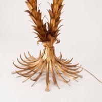 Huge Gilt Metal Double Stem Palm Tree Floor Lamp, Hans ...