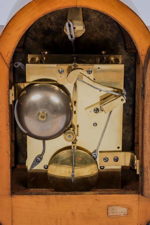 George IV Satinwood Veneered Striking Twin Fusee Bracket