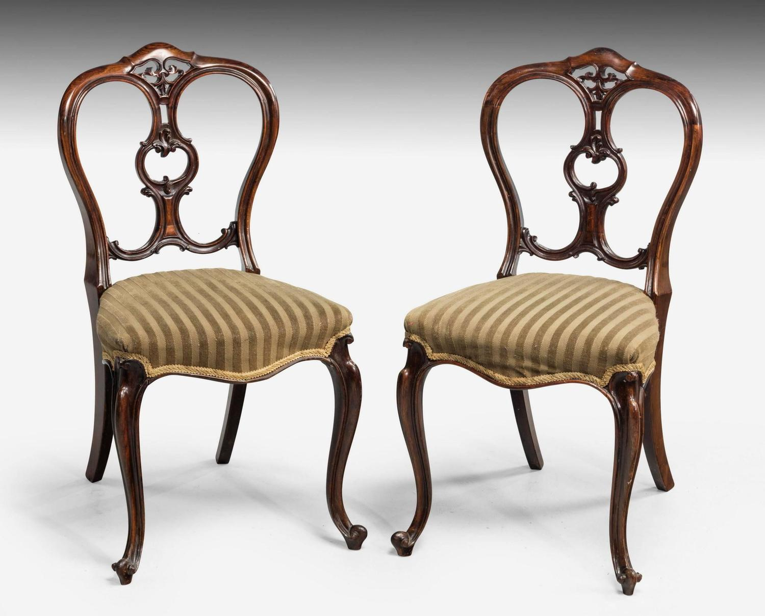 Balloon Chair For Sale Set Of Six Mid Victorian Rosewood Balloon Back Chairs For
