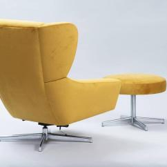 Swivel Chair Em Portugues High Floor Mat Argos Danish With Ottoman At 1stdibs