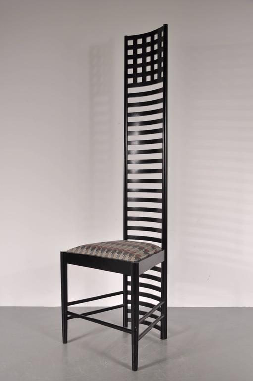 high backed chair covers wedding diy xl edition hill house ladderback by charles rennie mackintosh, circa 1980 at 1stdibs