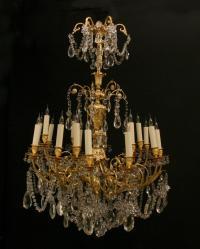 Fine Louis XVI Gold Bronze Duray Chandelier For Sale at ...