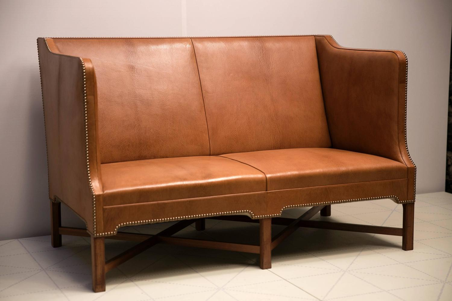 two person recliner chair office gas lift cylinder replacement 2 1 sofa in nigerian goatskin on cuban mahogany