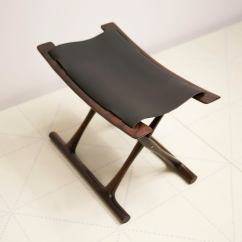 Rocking Chair With Footstool India Global Office Chairs Egyptian Folding Stool By Ole Wanscher In Indian Rosewood And Black Leather For Sale At 1stdibs