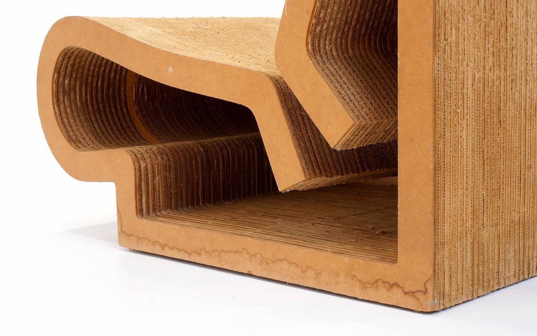 frank gehry cardboard chair doll salon rare original easy edges contour