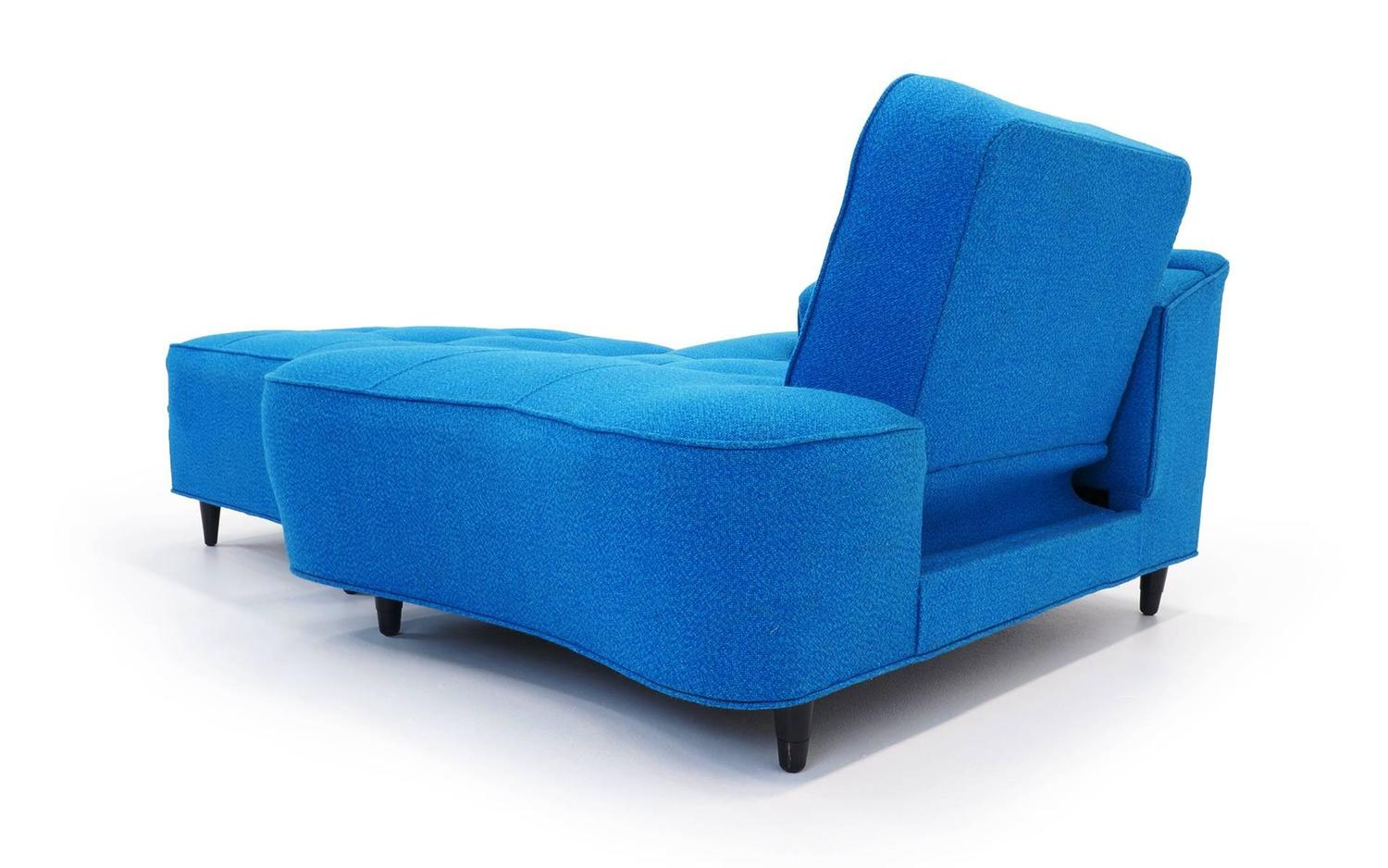 Blue Chair And A Half Chaise Or Daybed With Ottoman At 1stdibs