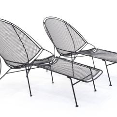 Patio Chairs With Footrests Wheelchair Ngo Rare Pair Of John Salterini Chaise Lounge