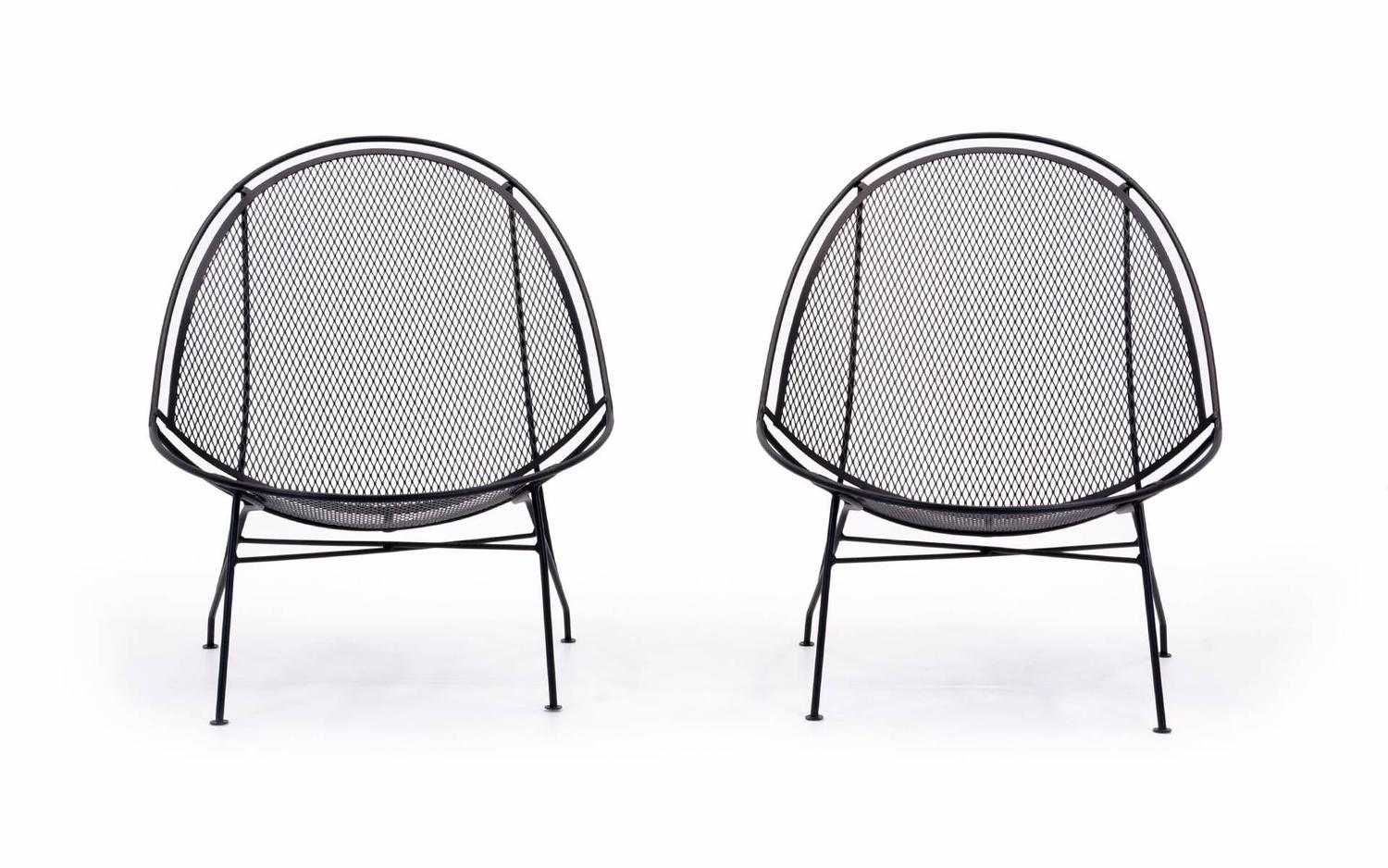 patio chairs with footrests chair cover hire chester rare pair of john salterini chaise lounge