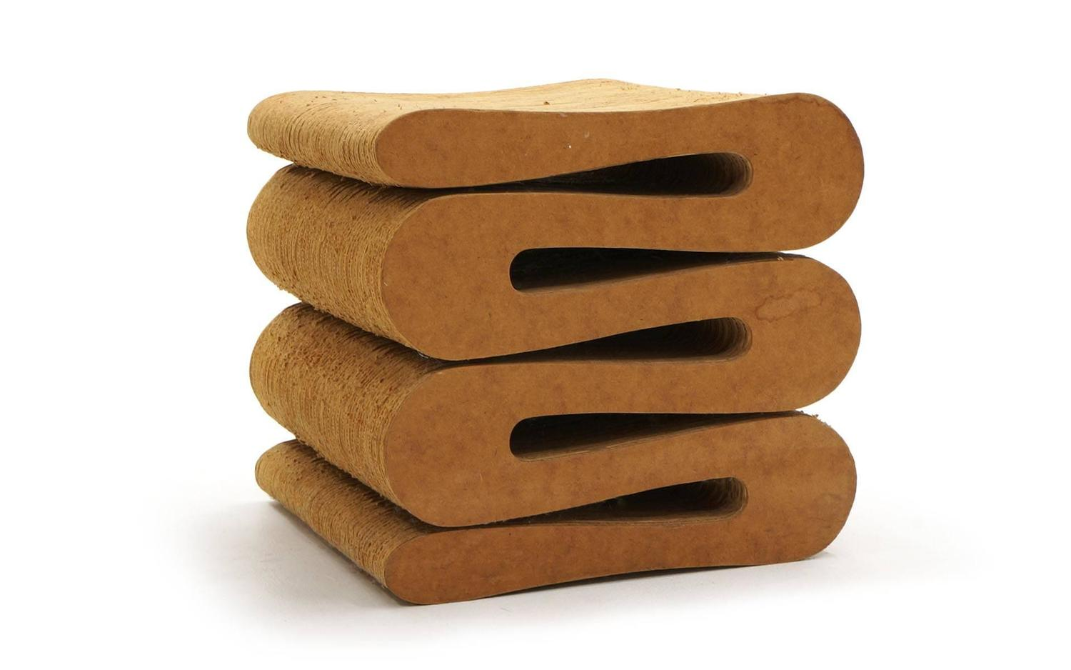 frank gehry cardboard chair cushion for bed original 1972 wiggle and