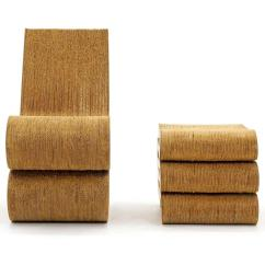 Frank Gehry Cardboard Chair Armed Accent Chairs Original 1972 Wiggle And