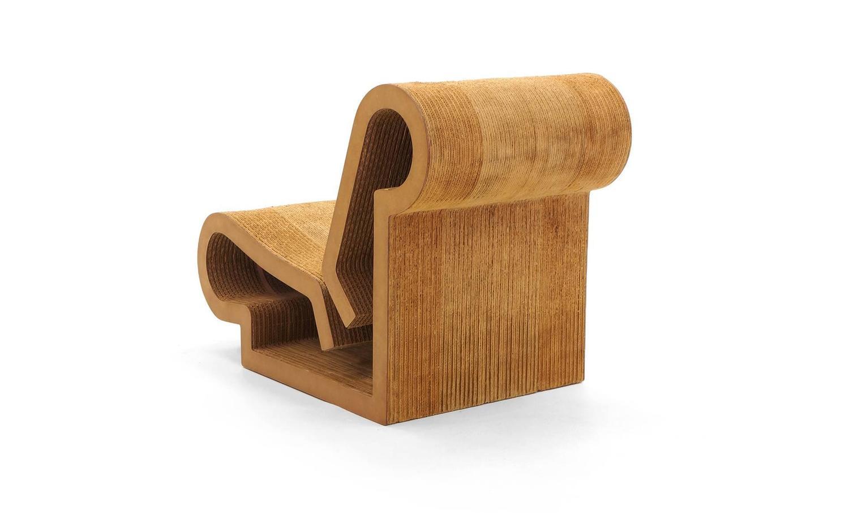 frank gehry cardboard chairs kids swivel desk chair rare original easy edges contour