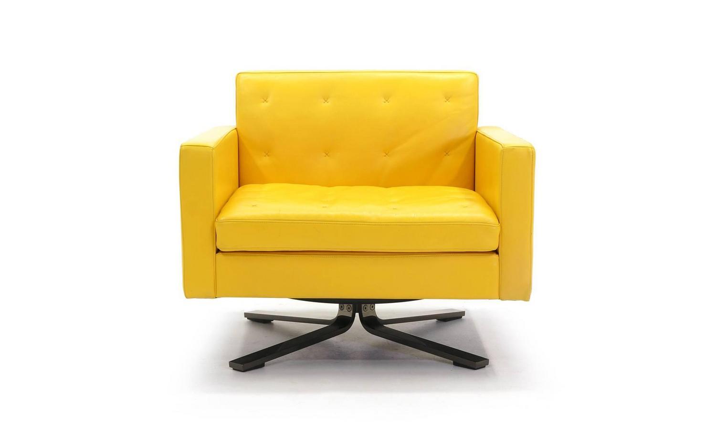 yellow club chair habitat dining room covers poltrona frau kennedee series leather memory swivel