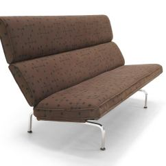 Eames Sofa Compact Outdoor Sectional Sale Charles And Ray For Herman Miller In Dot Early Pattern Fabric By