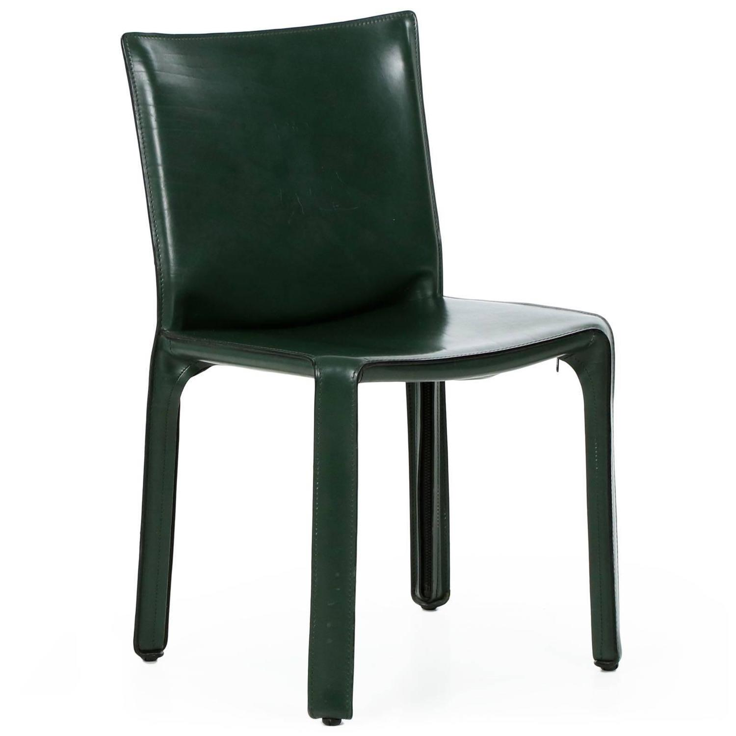 leather side chair cover hire dundee mario bellini for cassina quotcab quot green saddle