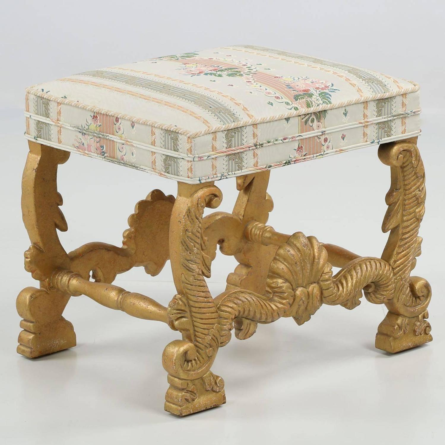 minton spidell chairs chair cover rentals in chicago empire style carved giltwood foot stool