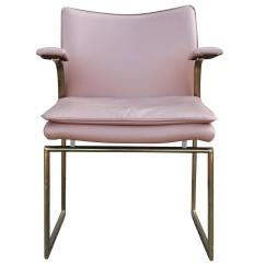 Pink Dining Room Chairs Swing Chair Target Fabulous Set Of Six Brass And Leather