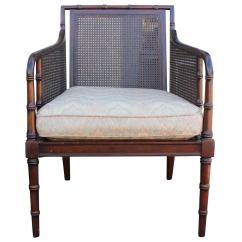 Bamboo Cane Back Chairs Baby Sleeping Chair And Regency Style Lounge At 1stdibs