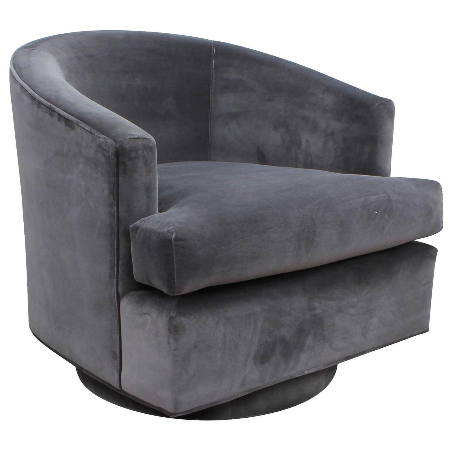 barrel swivel chairs upholstered bar concrete fabulous pair of fully back grey