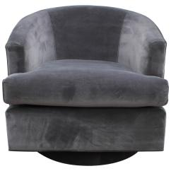 Barrel Swivel Chairs Upholstered Wedding Chair Covers Hire Warwickshire Fabulous Pair Of Fully Back Grey