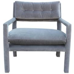 Grey Parsons Chair How To Paint A Fabric Fabulous Pair Of Milo Baughman Style Velvet