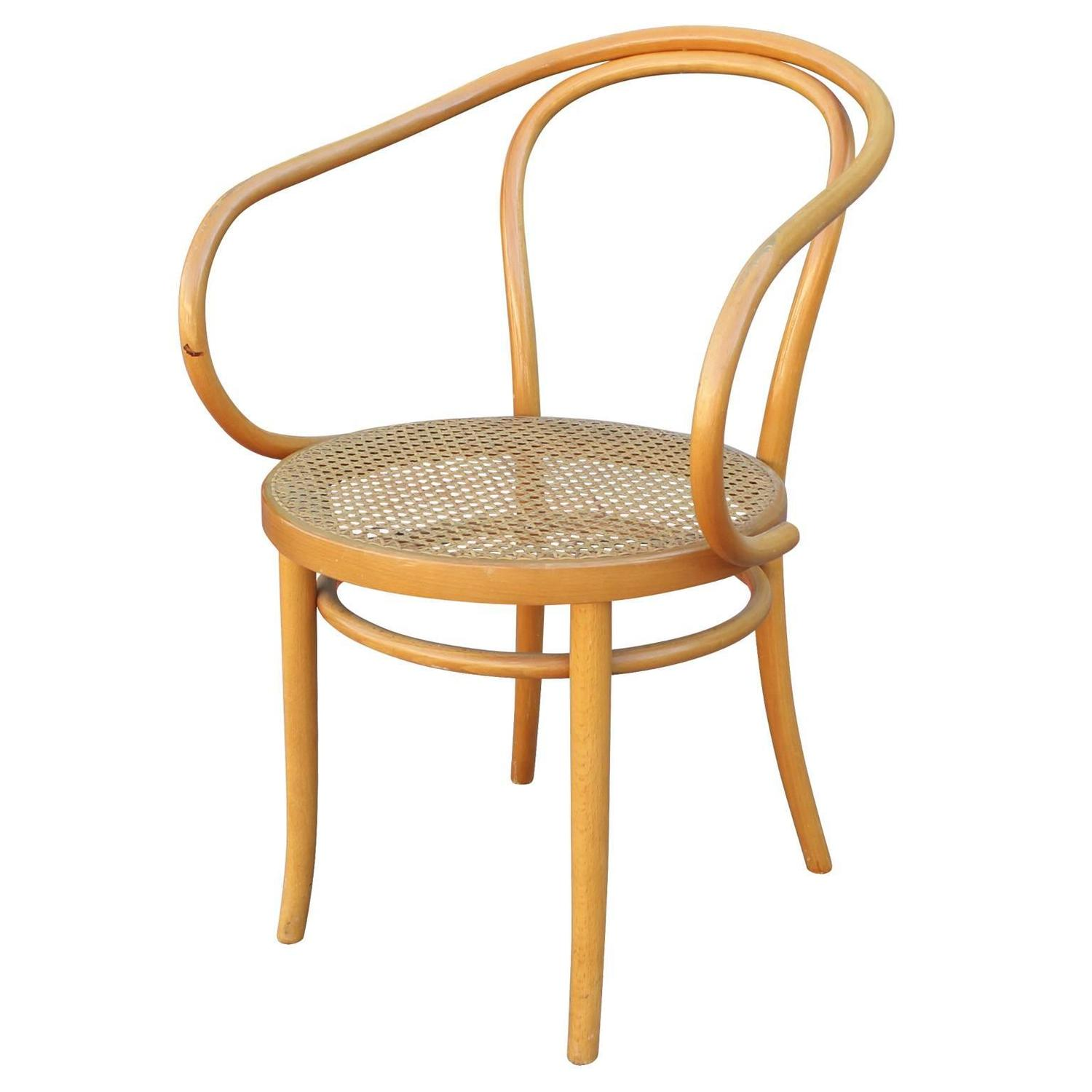 Bent Wood Chairs Set Of Six Thonet 209 Bentwood And Cane Dining Chairs At