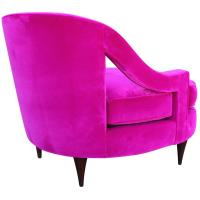 Glamorous Fuchsia Pink Velvet Lounge Chair at 1stdibs
