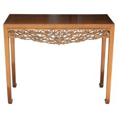 Teak Sofa Table Moving Problem Reddit Modern Console With Hand Carved Asian Motifs And Horse Hoof Feet For Sale