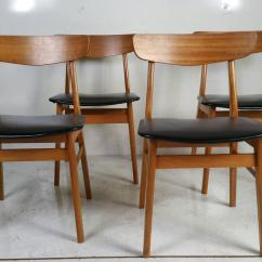 Dining Chair Sets Of 4 Yoga Certification Uk Set Four Danish Modern Chairs At 1stdibs