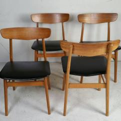 Danish Modern Dining Chairs Hyperextension Vs Roman Chair Set Of Four At 1stdibs