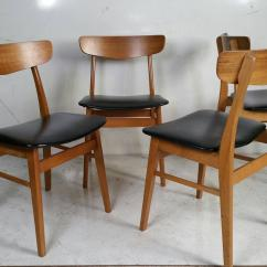 Set Of 4 Dining Chairs Hill Chair Lift Four Danish Modern At 1stdibs