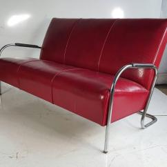 Howell Sofa Refilling Seat Cushions Wolfgang Hoffmann Tubular Chrome Three Settee