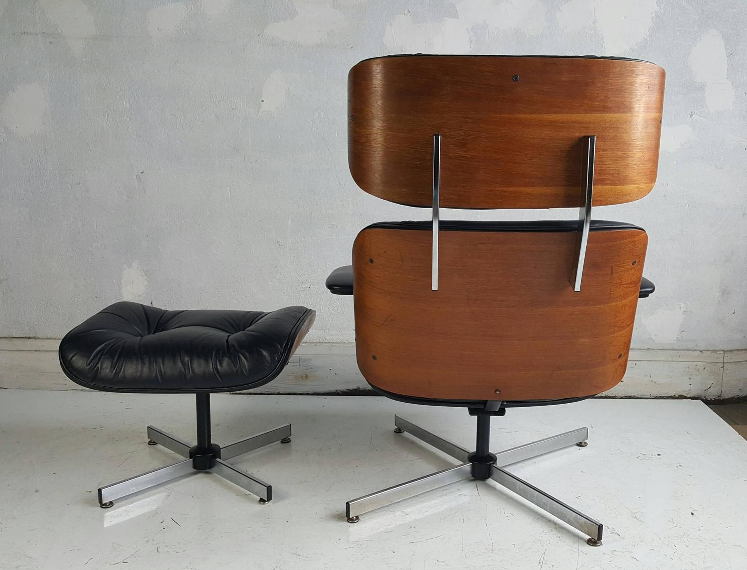 Copy Eames And Chair Plycraft Ottoman