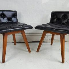 Swivel Vanity Chair Cheap Planq Unusual Pair Of Button Tufted Chairs Or Stools At