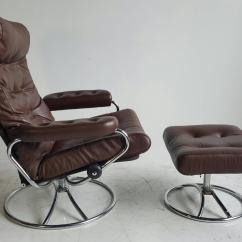 Stressless Chair Similar Ikea Folding Chairs Brown Leather Ekornes Lounge With Ottoman 1960