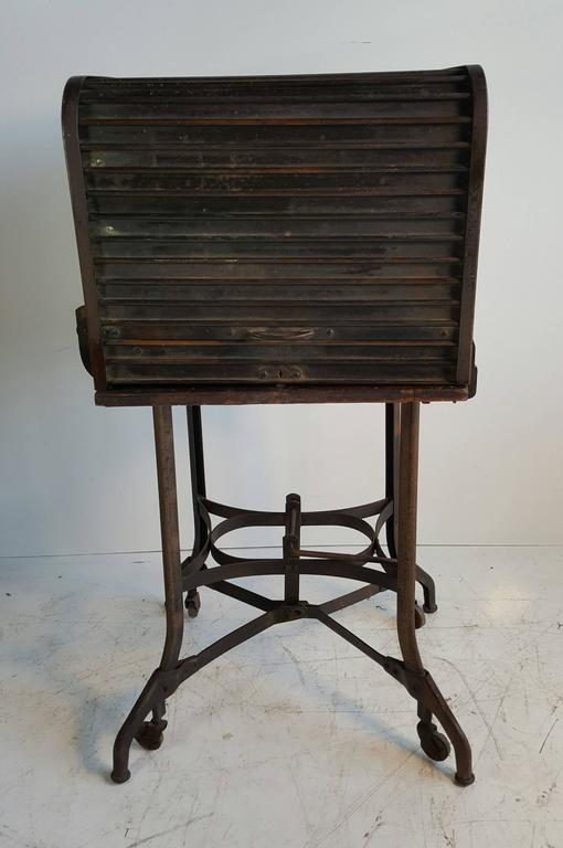 kitchen cabinets buffalo ny lowes sinks industrial typewriter table/stand, desk manufactured by ...