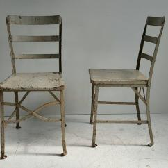 Grey Painted Chairs Canadian Glider Chair Pair Of American Modernist Industrial Old Factory Paint Toledo For Sale