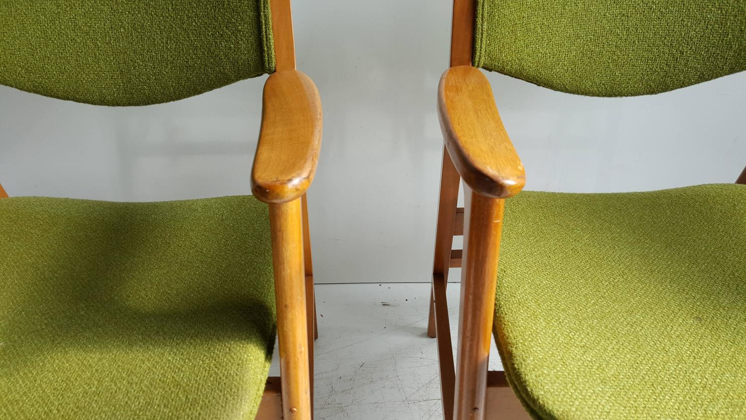 wh gunlocke chair old dental classic mid century modern armchairs manufactured by w h