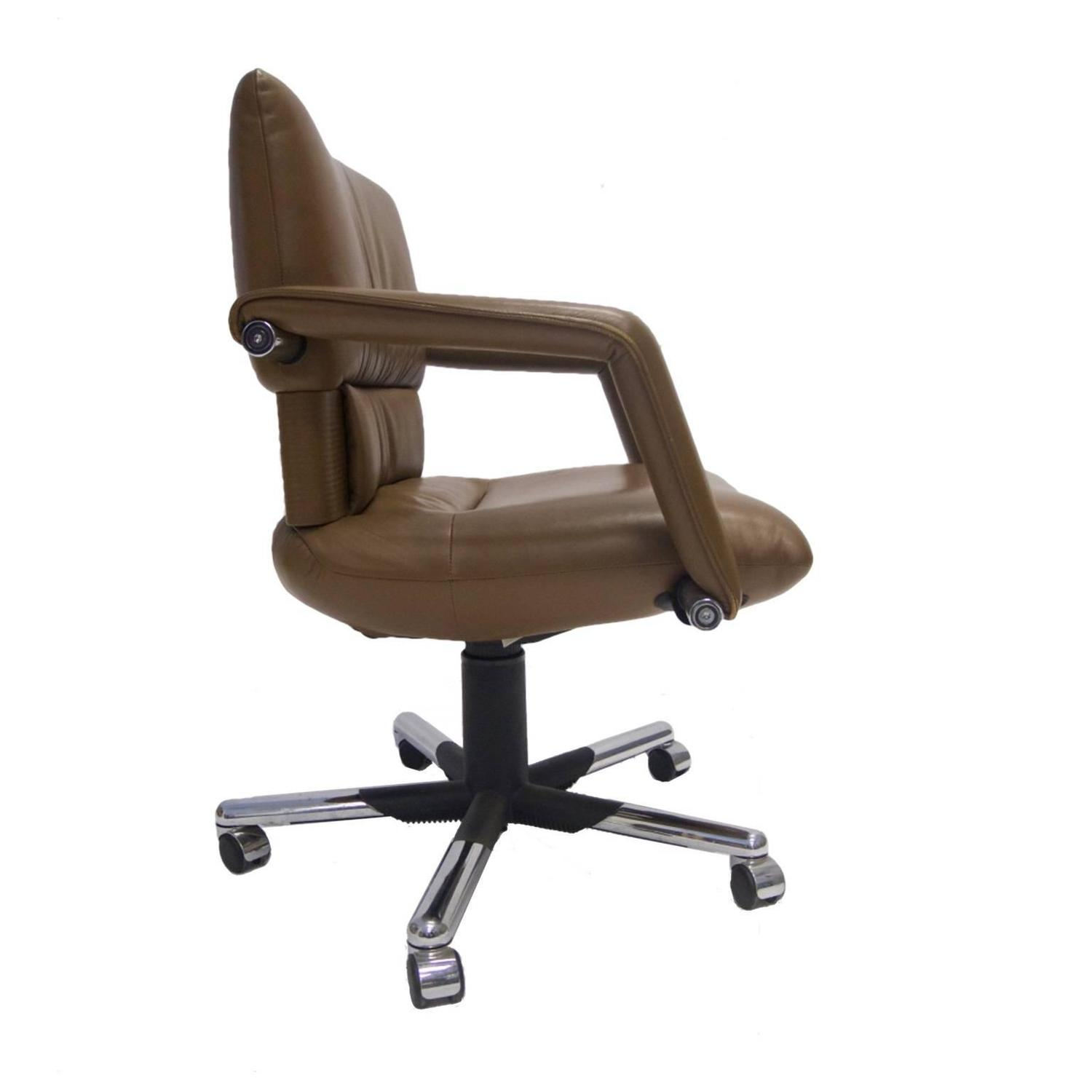 mario bellini chair folding cart for vitra leather swivel and tilt executive