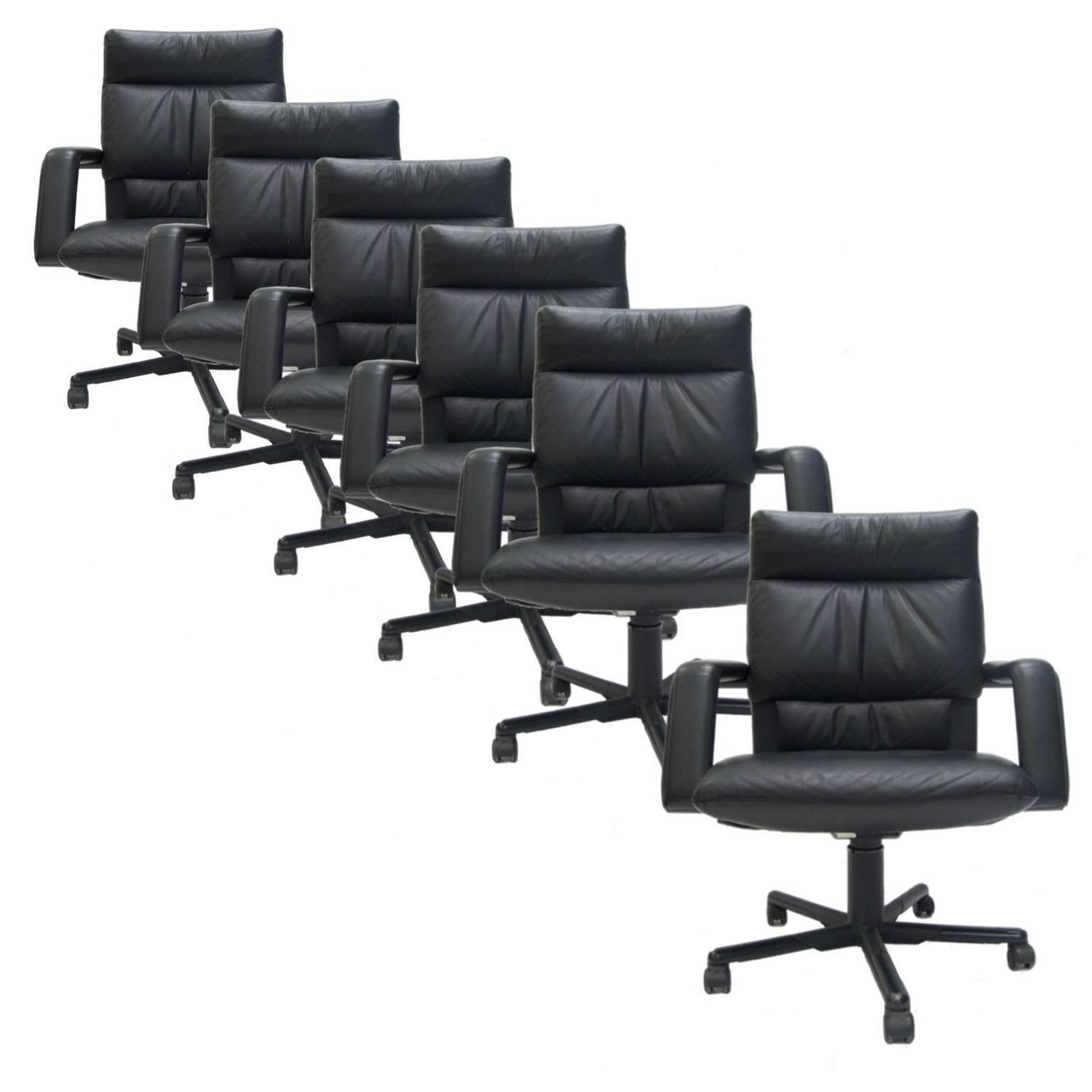 Black Chairs For Sale Mario Bellini For Vitra Black Leather Swivel And Tilt