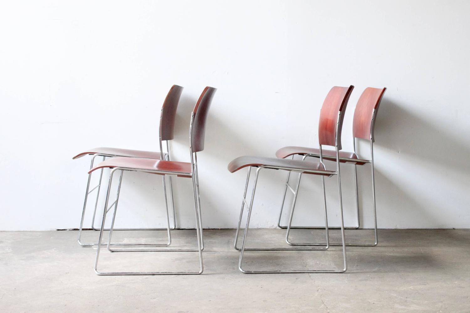 david rowland metal chair exercise ball target 40 4 stackable chairs at 1stdibs